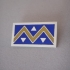 Silver & Blue/Yellow Enamel Chevron Lapel Pin  -  LP29